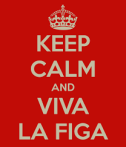 keep calm and viva la figa