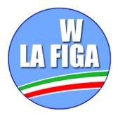 w viva la figa logo partito