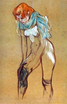 Toulouse-Lautrec donna che indossa le calze.jpg